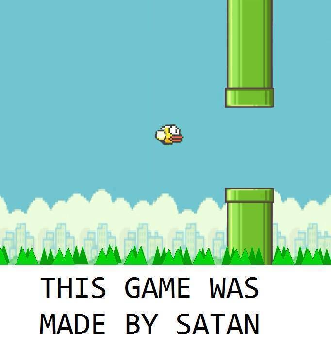 This game was made by satan - Flappy Bird