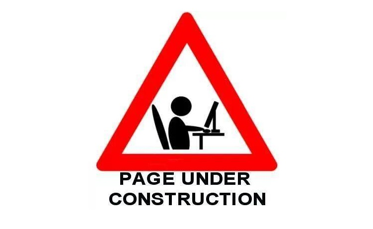 Page Under Construction -Triangle Symbol
