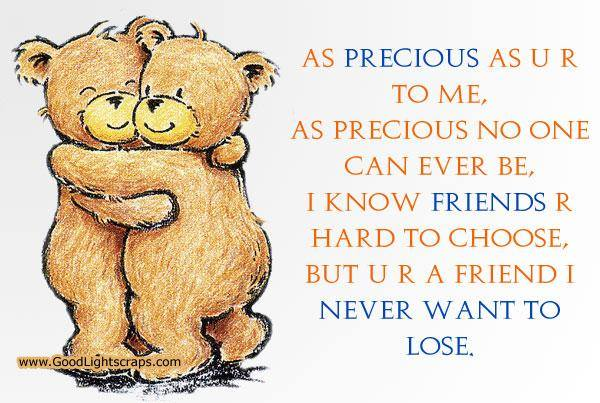 Friends  Are Hard To Choose - Teddy Bears Hugging