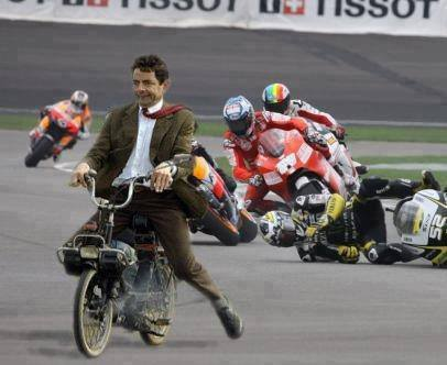 Mr Bean in Bike Race