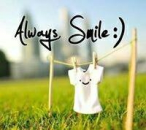 Always Smile. Smiley Face in Shirt Hanging