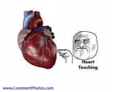 Heart Touching - Troll face touching heart