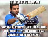 Remember the name - 20 years later - Cricket batting Legend Virat Kohli