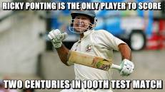 Ricky Ponting Is the Only Player To Score Two Centuries In 100th Test Match