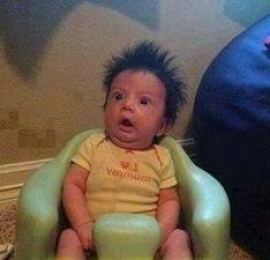 Funny Baby Shocked