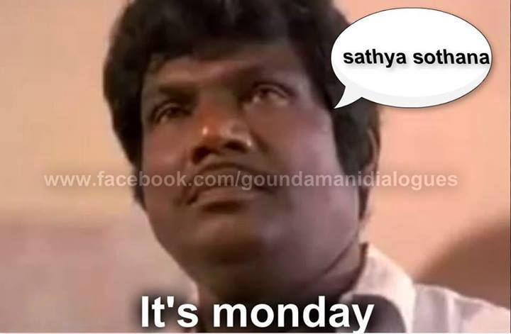 Sathya Sothana - Its Monday - Goundamani Crying