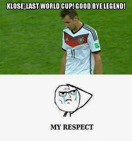 Klose - Germany - Last Fifa Worldcup. Good Bye Legend - My Respect