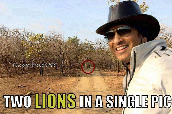 Two Lions In A Single Picture - Sachin Tendulkar