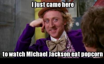 I Just Came Here To Watch Michael Jackson Eat Popcorn - Read The Comments - Michael Jackson Eating Popcorn - Mj In Thriller Theatre