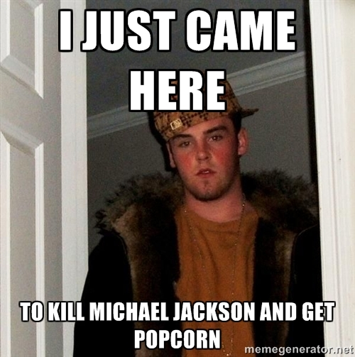 I Just Came Here To Kill Michael Jackson and Get Popcorn - Read The Comments - Michael Jackson Eating Popcorn - MJ in Thriller Theatre