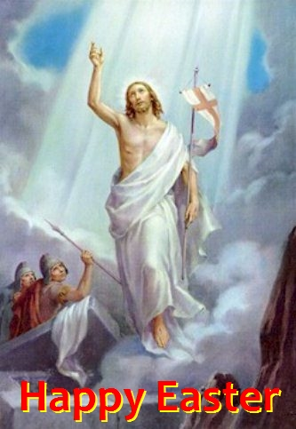 Happy Easter -Jesus Rising from the dead - Resurrection of Jesus