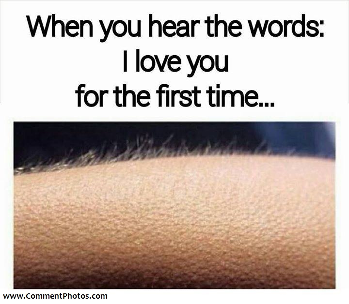 When You Hear The Words - I Love You For The First Time - Goose bumps in Hand