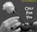 Only for you - White Roses Black and White