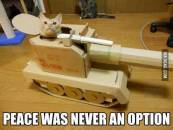 Peace was never an Option - Funny Cat Inside Tanker