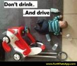 Dont Drink and Drive - Funny baby cycle accident with drinking milk bottle